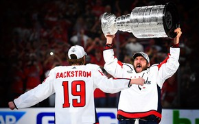Картинка Игра, Спорт, Лед, Вашингтон, Лёд, Washington, 2018, Александр Овечкин, NHL, НХЛ, Washington Capitals, Овечкин, Cup, …