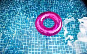 Картинка вода, круг, бассейн