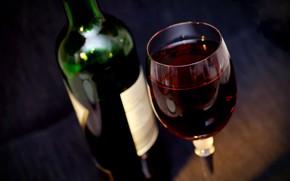 Картинка вино, красное, бокал, бутылка, красное вино