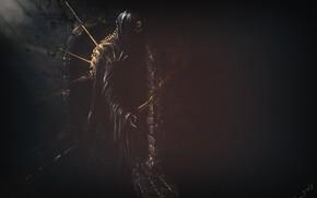 Картинка Fantasy, Ghost, Skull, Characters, Gloomy, Matte Painting, Dmitrii Ustinov, by Dmitrii Ustinov, Dark Guardian