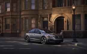 Картинка Volkswagen, фонарь, седан, Passat, 2020, 2019, тёмно-серый, US Version