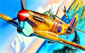 Картинка Supermarine Spitfire, Spitfire Mk.Vb, 249 Sqn RAF, Falcon of Malta, George ''Buzz'' Beurling