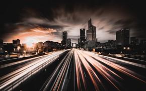 Картинка City, Landscape, Lights, Building