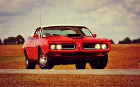 Картинка Dodge, Red, Car, Classic, Charger, Old, Muscle car, R/T