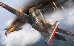Картинка ВВС Франции, французский истребитель-моноплан, Armée de l'Air, Bloch MB.151