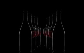 Картинка фон, бокалы, бутылки