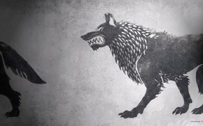 Картинка game of thrones, a song of ice and fire, fan art, House Stark, HBO, darewolf
