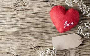 Картинка любовь, цветы, сердце, red, love, vintage, heart, wood, flowers, beautiful, romantic