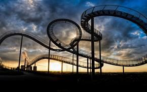 Картинка город, лестница, Germany, Duisburg