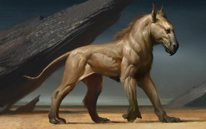 Картинка фэнтези, арт, Wei Guan, Sand Horse-The Wheel Of Destiny