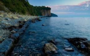 Картинка море, пейзаж, природа, камни, берег, утро, Туапсе, Александр Плеханов, скала Киселёва