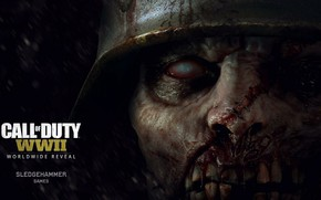 Картинка zombie, blood, Call of Duty, game, soldier, monster, war, dead, death, helmet, kabuto, Call of …