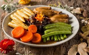 Картинка овощи, морковь, блюдо