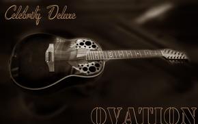 Картинка guitar, Tajikistan, ballad, Ovation, Kide & JC, Dushanbe, Kide FotoArt, Country music, Celebrity Deluxe, 12-string