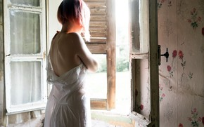Картинка девушка, свет, окно