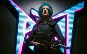 Картинка фон, игра, киберпанк, Cyberpunk 2077