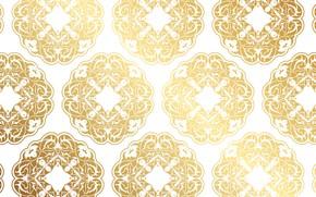 Картинка текстура, белый фон, gold, background, pattern, Decorative