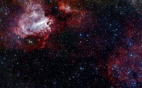Картинка Stars, VST, Messier 17, The Omega Nebula, VLT Survey Telescope, H II Region, Constellation of …
