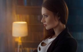 Картинка портрет, Инесса Ануфриева, лицо, профиль, Иван Лосев, девушка