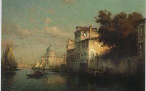 Картинка лодка, ALDINE, VENICE, THE GRAND CANAL