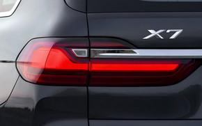 Картинка фара, BMW, 2018, кроссовер, SUV, корма, 2019, BMW X7, X7, G07
