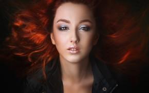 Картинка портрет, макияж, губки, зубки, Alexander Drobkov-Light, Анастасия Германова