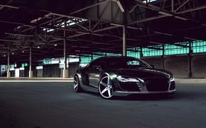 Картинка купе, Audi R8, спортивный автомобиль, среднемоторный полноприводный