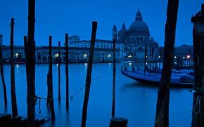 Картинка Италия, церковь, Венеция, гранд канал, Санта-Мария-делла-Салюте