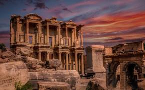Картинка руины, Турция, Эфес, библиотека Цельса