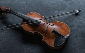 Картинка Музыка, Скрипка, Смычок