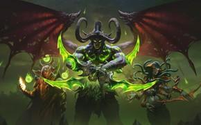 Картинка demon, World of Warcraft, WOW, The Burning Crusade, naga, blood elf, night elf, Blizzard Entertainment, …