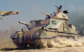 Картинка Великобритания, средний танк, M3 Lee, British Army, Владимир Бут, Grant Mk.I, M3 Grant
