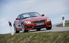 Картинка столбы, BMW, родстер, обочина, 2013, E89, BMW Z4, Z4, sDrive35is
