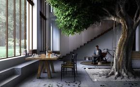 Картинка дизайн, стиль, дерево, интерьер, минимализм, гостиная, green style, столовая, by Carlo Ratti Associati, The Greenary