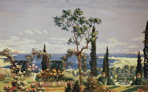 Картинка 1926, Charles Ephraim Burchfield, right panel, The Riviera