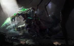 Картинка Девушка, Рисунок, Sarah, Blizzard, Art, Сара, Протосс, Protoss, StarCraft 2, Sarah Kerrigan, Сара Керриган, Королева …