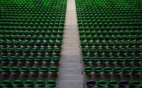 Обои Краснодар, Стадион, Чёрно-зелёные, Россия, Трибуна, Сверху, Сидения, ФК Краснодар, Футбол