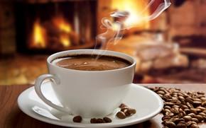 Картинка кофе, горячий, чашка