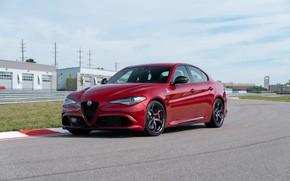 Картинка Alfa Romeo, Quadrifoglio, Track, Gulia