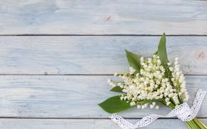 Картинка цветы, букет, весна, white, ландыши, wood, flowers, spring, lily of the valley