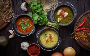 Обои суп, борщ, ассорти, перец, петрушка