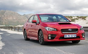 Картинка Subaru, WRX, Red, Road