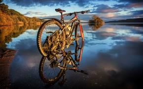 Картинка природа, велосипед, река