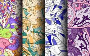Картинка фон, вектор, текстура, colorful, геометрия, patterns, seamless