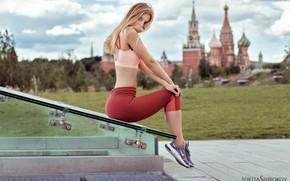 Картинка взгляд, девушка, спортивная, русая, Никита Широков, Nikita Shirokov