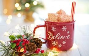 Картинка новый год, декор, горячий шоколад