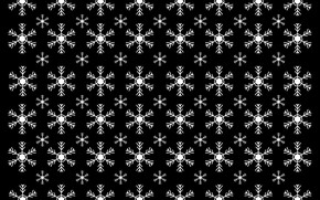 Картинка зима, снежинки, полосы, узор, текстура, Рождество, Новый год, черный фон, одинаковые, повторние
