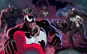 Картинка spider-man, venom, MARVEL, веном, venom verse