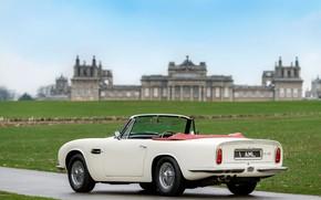 Картинка дорога, Aston Martin, кабриолет, 1970, 2018, Heritage EV Concept, DB6 Mark II Volante