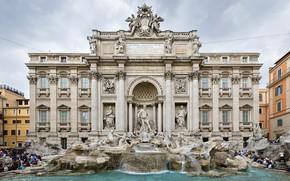 Картинка Рим, Италия, фонтан Треви